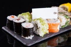 Japanese seafood sushi set Stock Photos