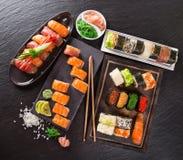Japanese seafood sushi set Royalty Free Stock Photo