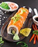 Japanese seafood sushi set Stock Image