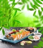Japanese seafood sushi set Royalty Free Stock Photography