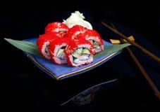 Japanese seafood sushi set Royalty Free Stock Image