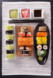 Japanese seafood sushi set Royalty Free Stock Photos