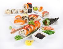 Japanese seafood sushi set Stock Photo
