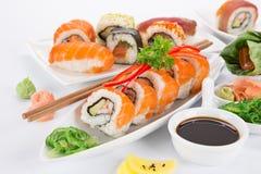 Japanese seafood sushi set Stock Photo