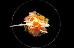 Japanese Seafood Tartare Royalty Free Stock Image