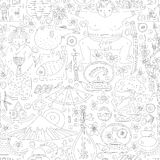 Japanese Seamless Pattern Royalty Free Stock Image