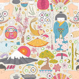 Japanese Seamless Pattern Stock Photo