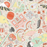 Japanese Seamless Pattern Royalty Free Stock Photography