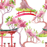 Japanese seamless pattern Royalty Free Stock Photos