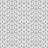 Japanese seamless vector pattern. Traditional oriental wave background. Grey and white Royalty Free Stock Image