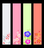 Japanese season banners Royalty Free Stock Photography