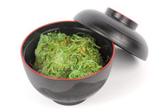 Japanese seaweed in the cup Stock Photos