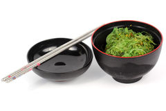 Japanese seaweed in the cup Stock Images