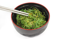 Japanese seaweed in the cup Royalty Free Stock Photos