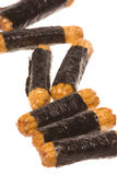 Japanese Seaweed Rice Crackers Macro Isolated Stock Photo