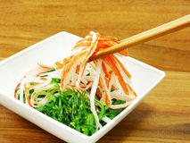 Japanese seaweed salad and crab stick Stock Photography