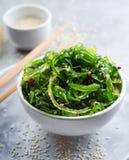 Japanese seaweed salad royalty free stock photos
