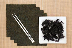 Japanese Seaweed Selection Royalty Free Stock Photography