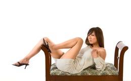 Japanese sensual leggy glamour Stock Photos