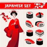 Japanese Set Royalty Free Stock Photos