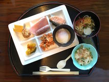 Japanese set meal. This photo is shot in Japan Royalty Free Stock Photo