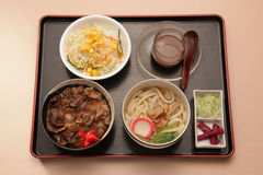 Japanese set meal Royalty Free Stock Image