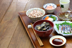 Japanese set meal Stock Images