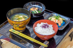 Japanese set meal Royalty Free Stock Photography