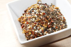Japanese seven spice mixture Royalty Free Stock Photo