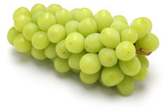 Japanese shine muscat grape. Shine muscat, japanese new variety grape  on white background Stock Photo