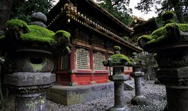 Japanese Shinto Buddhist temples in Nikko Royalty Free Stock Image