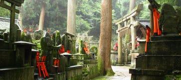 Japanese shinto cemetery Royalty Free Stock Photo