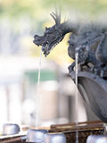 Japanese shinto shrine cleansing fountain Royalty Free Stock Image