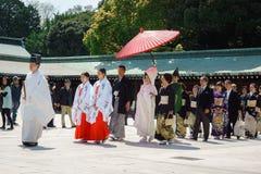 Japanese shinto wedding ceremony Royalty Free Stock Photography