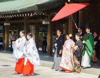 Japanese shinto wedding ceremony Royalty Free Stock Images