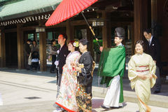 Japanese shinto wedding ceremony Stock Image