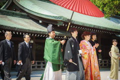 Japanese shinto wedding ceremony Royalty Free Stock Photo