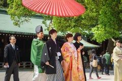 Japanese shinto wedding ceremony Stock Photo