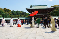 Japanese shinto wedding ceremony Stock Photos