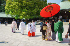 Japanese shinto wedding ceremony Royalty Free Stock Photography