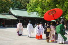 Japanese shinto wedding ceremony Royalty Free Stock Photos