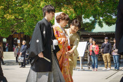 Japanese shinto wedding ceremony Stock Image