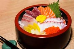 Japanese shiraishi raw seafood delicacy Stock Image