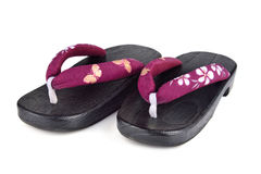 Japanese shoes Royalty Free Stock Photo