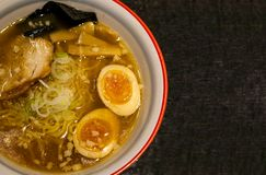 Japanese Shoyu Ramen With Copy Space Stock Photography