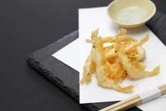 Japanese shrimp tempura, shiroebi stock image
