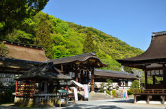 Japanese Shrine at Arashiyama Matsuo Shrine, Japan. Picture of Matsuo Shrine`s traditional architecture at Arashiyama Kyoto Japan Stock Images