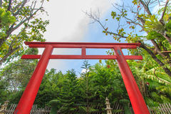 Japanese shrine gate Royalty Free Stock Image