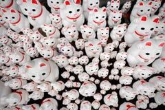 Japanese Shrine In Setagaya, Tons Of Good Fortune Cat Statues Called Manekineko Stock Photos