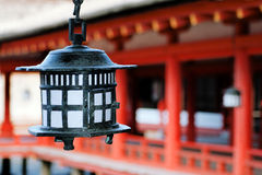 Japanese shrine lantern Royalty Free Stock Images
